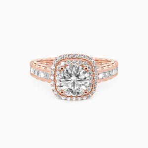 14K Rose Gold My Inspiration Engagement Halo Rings
