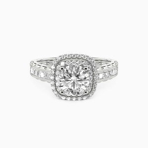 14K White Gold My Inspiration Engagement Halo Rings