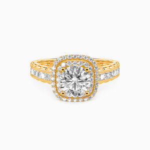 18K Gold My Inspiration Engagement Halo Rings
