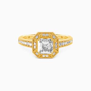 10K Gold Romance Forever Engagement Halo Rings