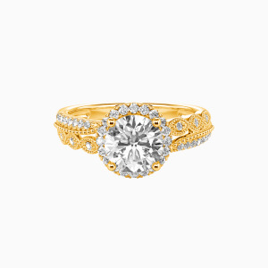 14K Gold Always Together Engagement Halo Rings