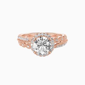 14K Rose Gold Always Together Engagement Halo Rings