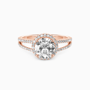 10K Rose Gold My Queen Forever  Engagement Halo Rings