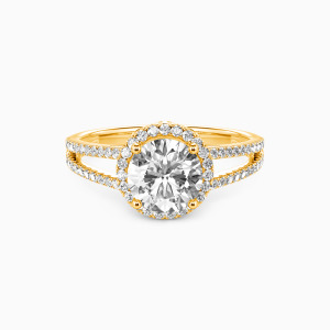 14K Gold My Queen Forever Engagement Halo Rings