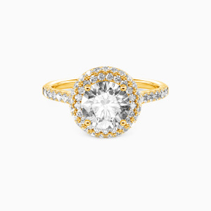 10K Gold You Are the One Engagement Halo Rings