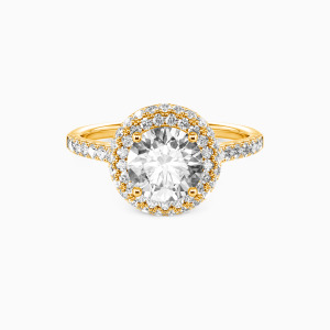14K Gold You Are the One Engagement Halo Rings