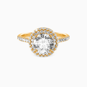 18K Gold You Are the One Engagement Halo Rings