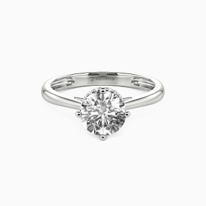 10K White Gold Love & Be Loved Engagement Halo Rings
