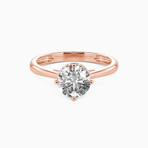 14K Rose Gold Love & Be Loved Engagement Halo Rings