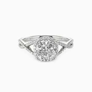 10K White Gold You Matter To Me Engagement Halo Rings