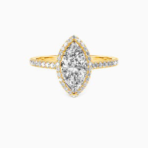 10K Gold My True Love Engagement Halo Rings