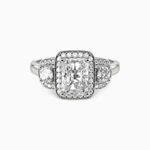 10K White Gold A Promise Of Love Engagement Halo Rings