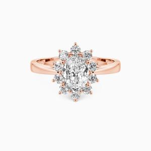 10K Rose Gold My Forever Sunshine Engagement Halo Rings