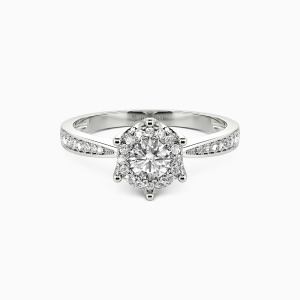 10K White Gold More Than Anything Engagement Halo Rings