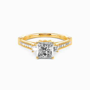 14K Gold Eyes For You Engagement Side Stone Rings