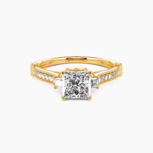 18K Gold Eyes For You Engagement Side Stone Rings