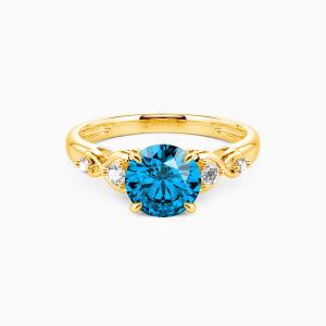 10K Gold Everlasting Love Engagement Side Stone Rings