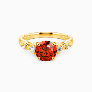 10K Gold Everlasting Love Engagement Side Stone Rings