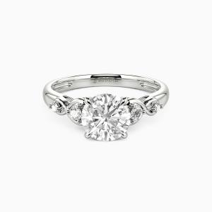 10K White Gold Everlasting Love Engagement Side Stone Rings