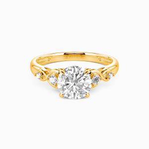 14K Gold Everlasting Love Engagement Side Stone Rings