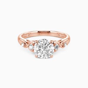 14K Rose Gold Everlasting Love Engagement Side Stone Rings