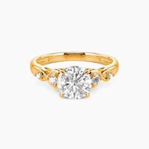 18K Gold Everlasting Love Engagement Side Stone Rings