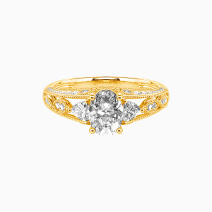 10K Gold My Love Engagement Side Stone Rings