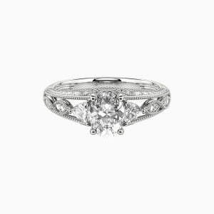 10K White Gold My Love Engagement Side Stone Rings