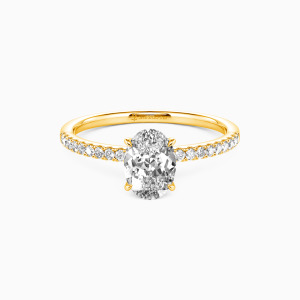 10K Gold Never Be Apart Engagement Side Stone Rings
