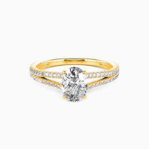 10K Gold You & Me Engagement Side Stone Rings