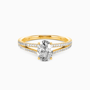 14K Gold You & Me Engagement Side Stone Rings