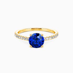 10K Gold  Love is light Engagement Side Stone Rings