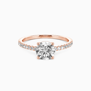 10K Rose Gold  Love is light Engagement Side Stone Rings