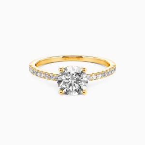 14K Gold  Love is light Engagement Side Stone Rings