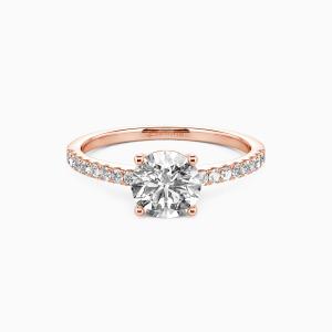 14K Rose Gold  Love is light Engagement Side Stone Rings