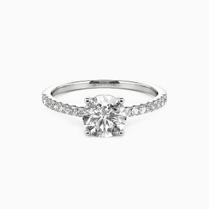 14K White Gold  Love is light Engagement Side Stone Rings