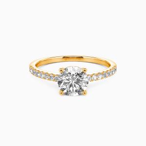 18K Gold  Love is light Engagement Side Stone Rings