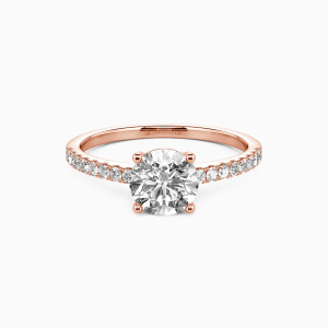 18K Rose Gold  Love is light Engagement Side Stone Rings