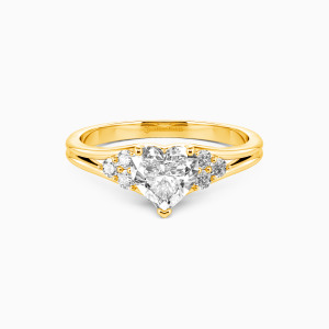 10K Gold  Two Souls, One Heart Engagement Side Stone Rings
