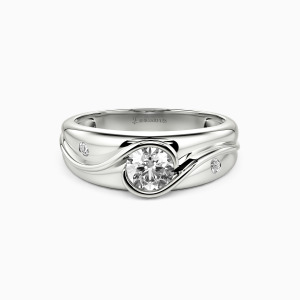 10K White Gold Until The End Engagement Side Stone Rings