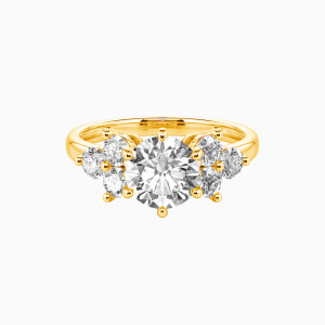 10K Gold My Angel Engagement Side Stone Rings