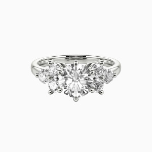 10K White Gold My Angel Engagement Side Stone Rings