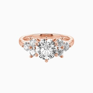 14K Rose Gold My Angel Engagement Side Stone Rings