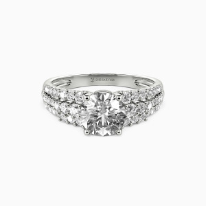 10K White Gold Love Of My Life Engagement Side Stone Rings