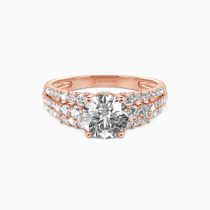14K Rose Gold Love Of My Life Engagement Side Stone Rings