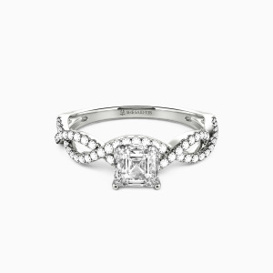10K White Gold You Are My Everything Engagement Side Stone Rings
