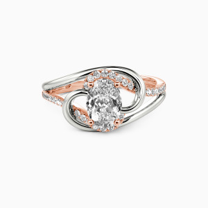 14K Rose Gold Star in My Heart Engagement Side Stone Rings