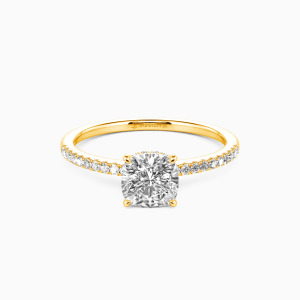 10K Gold You Make My Day Engagement Halo Rings