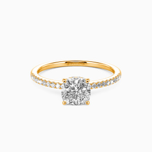 18K Gold You Make My Day Engagement Halo Rings