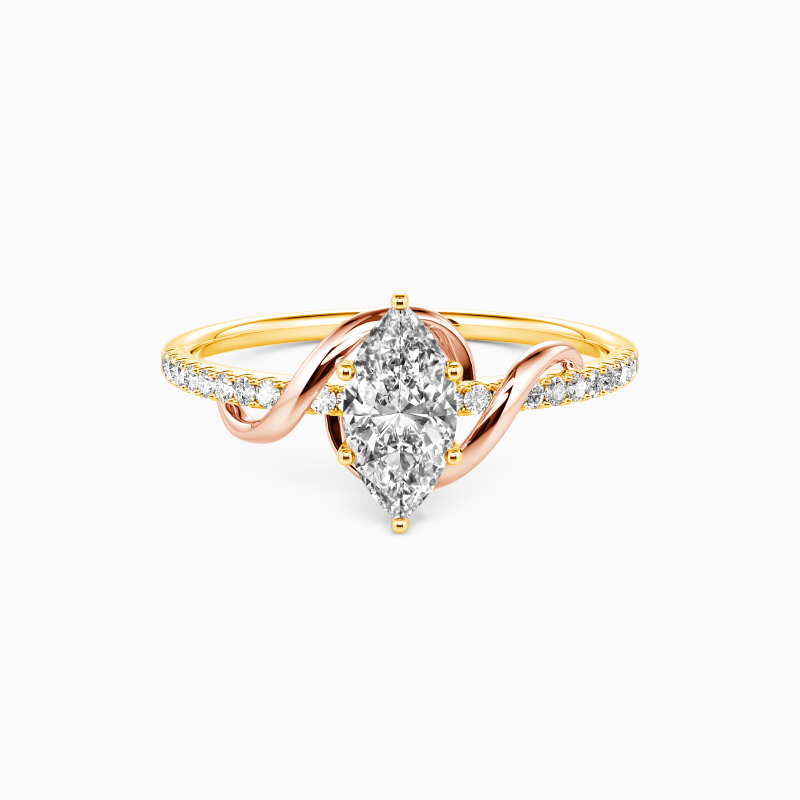 """SHE·SAID·YES """"To My Love"""" Marquise Cut Side Stone Engagement Ring"""
